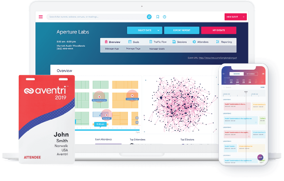Aventri's event management software platform