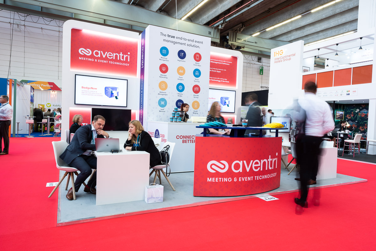 Aventri's booth at IMEX