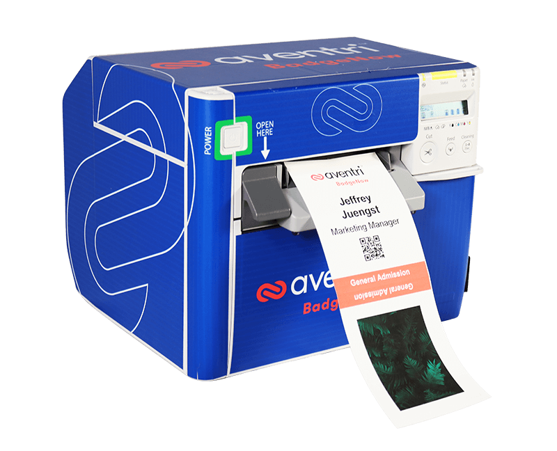 Aventri's BadgeNow onsite printer