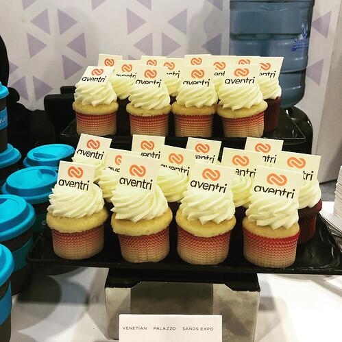 branded cupcakes and coffee