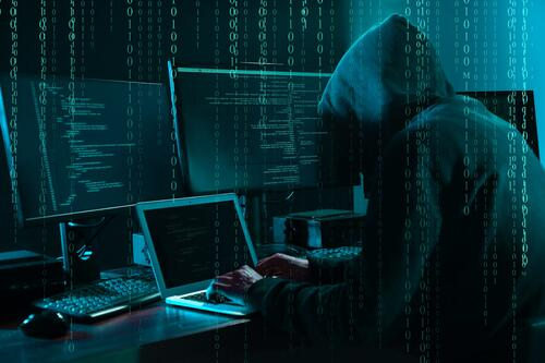Cybercriminal attempting to hack into a virtual event platform