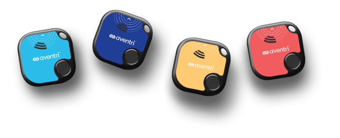 Aventri's smart tags shown the in turquoise, blue, yellow, and red