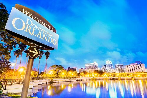 Welcome to downtown Orlando sign