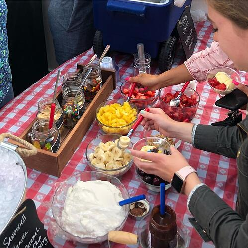 Aventri's fundraising ice cream social event designed to raise money for local charities
