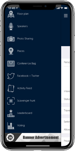 mobile event app features