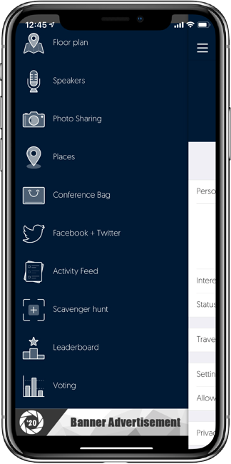 Aventri's mobile app features