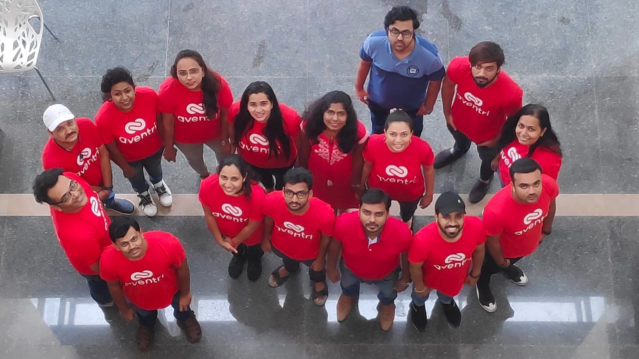 Aventri's Pune office recreate the aventri logo