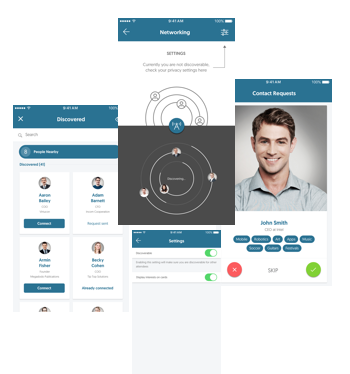 Aventri's enhanced networking features on the Mobile App