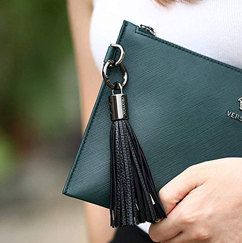 USB Keychain Charger Leather Tassel