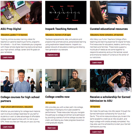 ASU For You website