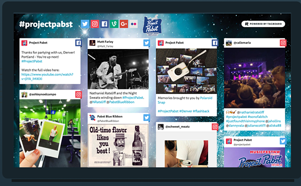 Tagboard - Social media tool used by planners to help promote events