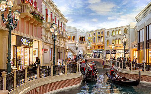 The Venetian Casino and The Grand Canal in Las Vegas, Nevada