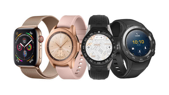 Various smartwatches