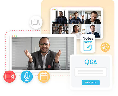 virtual event interactive features