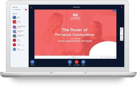 Aventri's fully integrated virtual event platform