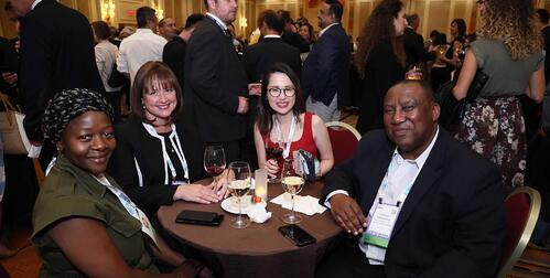 Attendees having cocktails at the Association Evening event at IMEX America