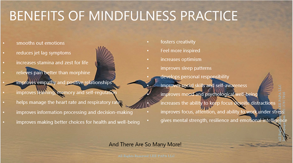 benefits of mindfulness practice list