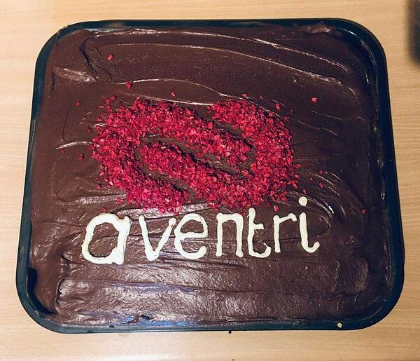 Aventri's  homemade cake birthday
