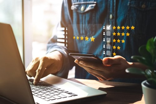 event professional reviewing post event survey feedback